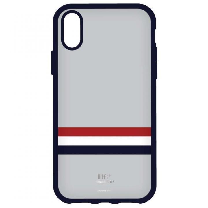 iPhone X ケース IIII fit Premium iPhone X グレー_0