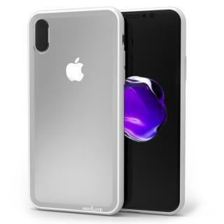【iPhone XS/Xケース】LINKASE CLEAR Gorilla Glass グレイ iPhone XS/X_1