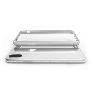 【iPhone XS/Xケース】LINKASE CLEAR Gorilla Glass グレイ iPhone XS/X_2