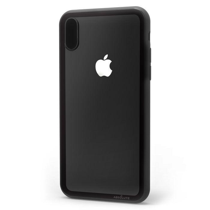 iPhone XS/X ケース LINKASE CLEAR Gorilla Glass ブラック iPhone XS/X_0