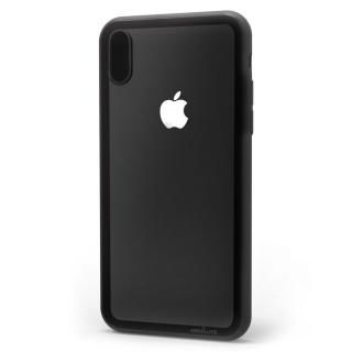 iPhone XS/X ケース LINKASE CLEAR Gorilla Glass ブラック iPhone XS/X