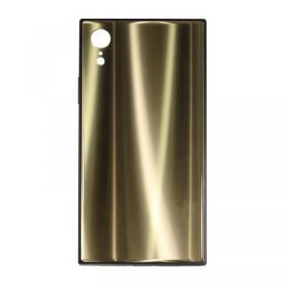 iPhone XR ケース SQUBE AURORA CASE 背面ケース ゴールド iPhone XR
