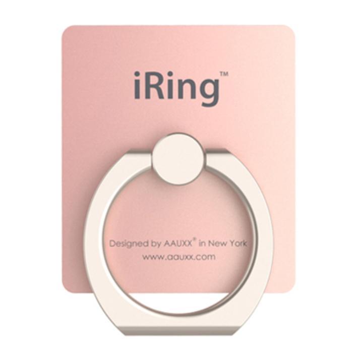 iRing アイリング  プレミアムセット 吊り下げフック付き スマホリング 落下防止リング&スタンド ローズゴールド_0