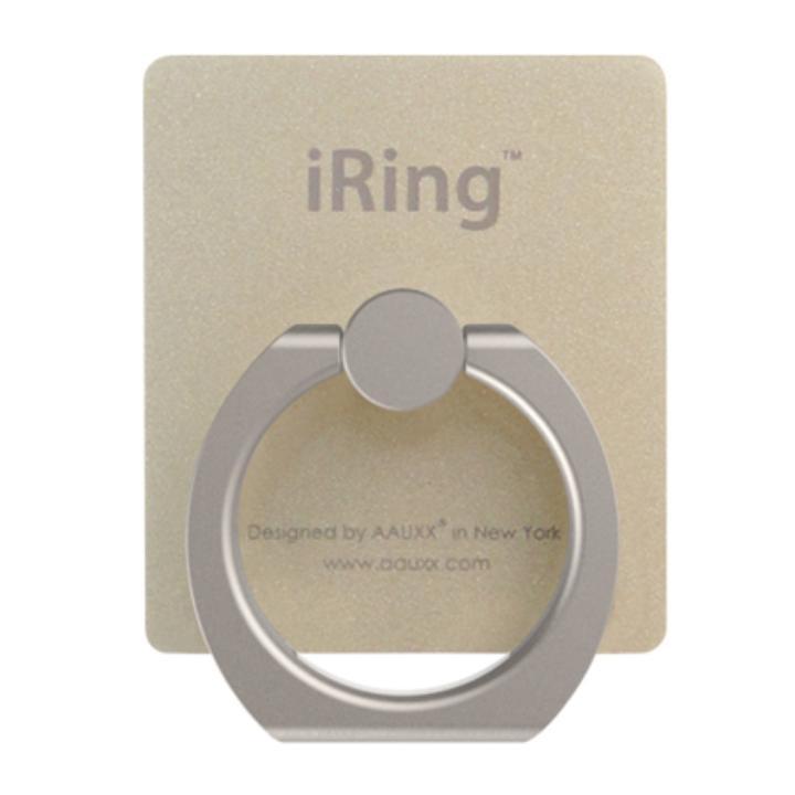 iRing アイリング  プレミアムセット 吊り下げフック付き 落下防止リング&スタンド ゴールド
