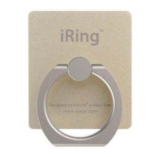iRing アイリング  プレミアムセット 吊り下げフック付き スマホリング 落下防止リング&スタンド ゴールド