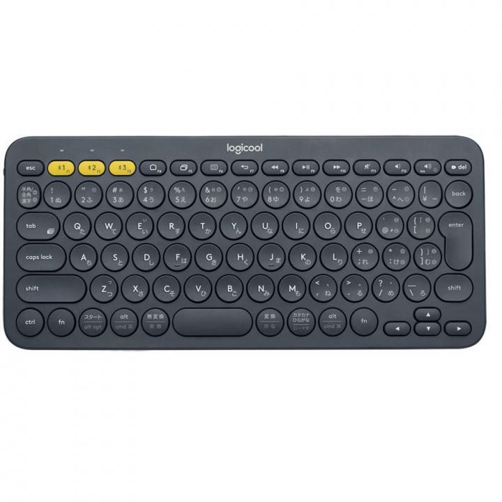 マルチデバイス Bluetoothキーボード logicool K380 ブラック