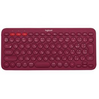 マルチデバイス Bluetoothキーボード logicool K380 レッド