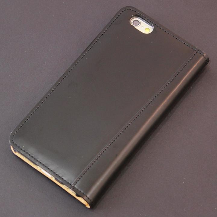 【iPhone6s/6ケース】コードバン手帳型ケース ULTIMO REBONALLY ブラック iPhone 6s/6_0