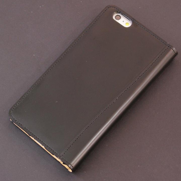【iPhone6s Plus/6 Plusケース】コードバン手帳型ケース ULTIMO REBONALLY ブラック iPhone 6s Plus/6 Plus_0