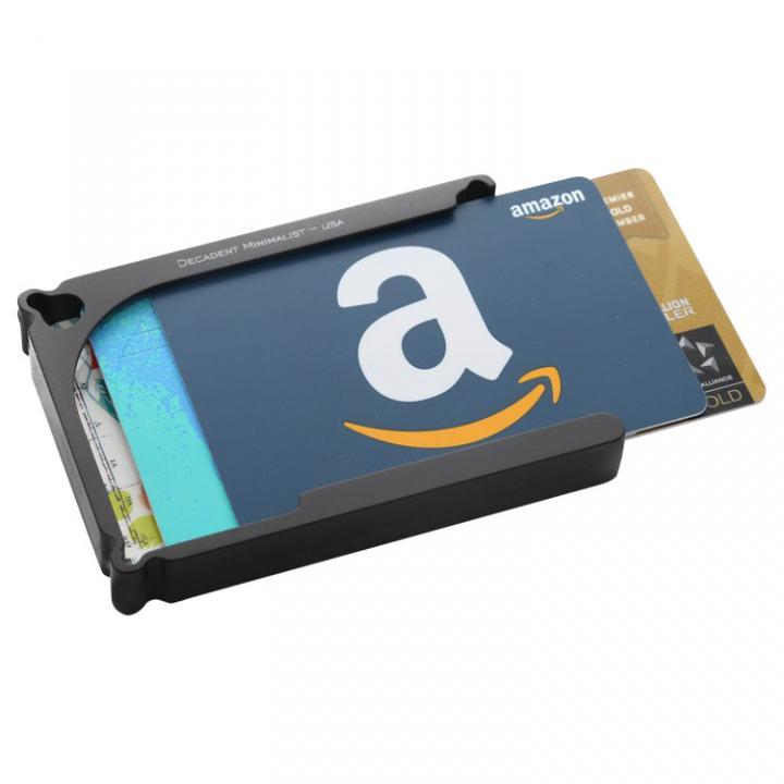 Decadent Minimalist アルミ財布/カードホルダー マネークリップ付属 ブラック/12カードタイプ