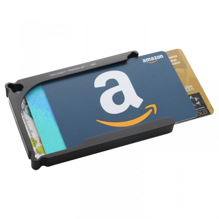 Decadent Minimalist アルミ財布/カードホルダー マネークリップ付属 ブラック/8カードタイプ_0