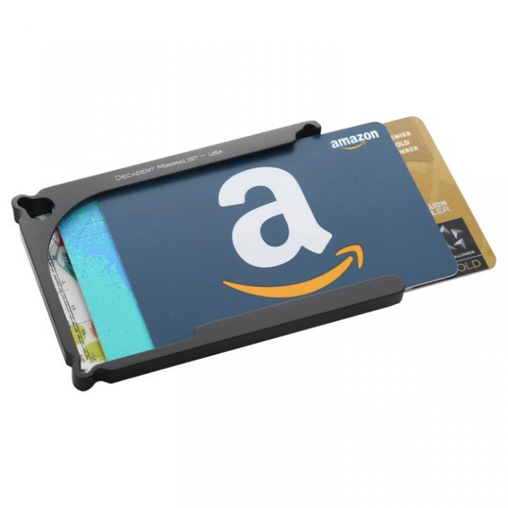 Decadent Minimalist アルミ財布/カードホルダー マネークリップ付属 ブラック/4カードタイプ_0