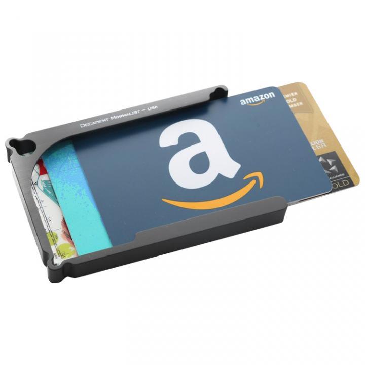 Decadent Minimalist アルミ財布/カードホルダー マネークリップ付属 ガンメタ/8カードタイプ_0