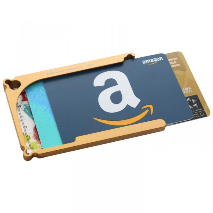 Decadent Minimalist アルミ財布/カードホルダー マネークリップ付属 ゴールド/4カードタイプ_0