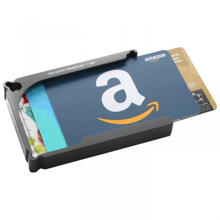 Decadent Minimalist アルミ財布/カードホルダー マネークリップ付属 ガンメタ/12カードタイプ_0