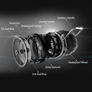 耐衝撃・防滴・防塵 Bluetoothスピーカー CAMPERS 1.0 ブラック_3