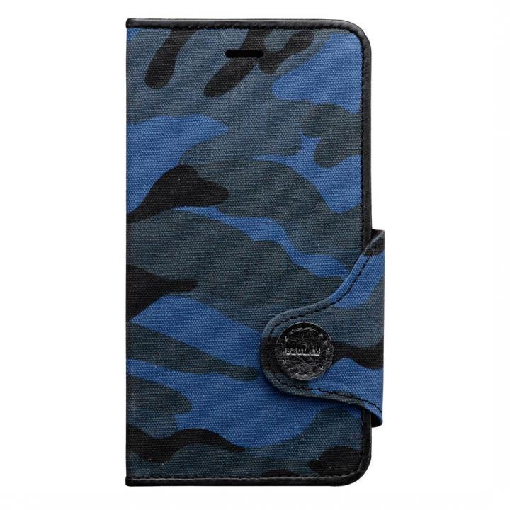 iPhone6s Plus/6 Plus ケース BZGLAM カモフラージュ 手帳型ケース ブルー iPhone 6s Plus/6 Plusケース_0