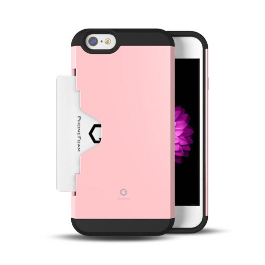 iPhone6 ケース Golf Fit カード収納機能付きケース ピンク iPhone 6ケース_0