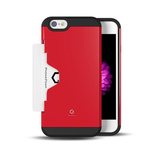 Golf Fit カード収納機能付きケース レッド iPhone 6ケース