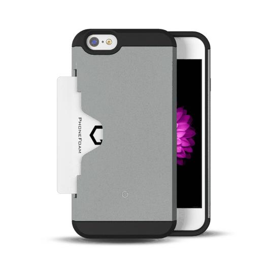 【iPhone6ケース】Golf Fit カード収納機能付きケース シルバー iPhone 6ケース_0