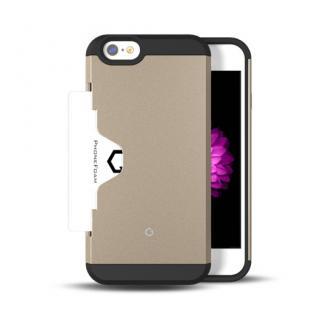 Golf Fit カード収納機能付きケース シャンパンゴールド iPhone 6ケース