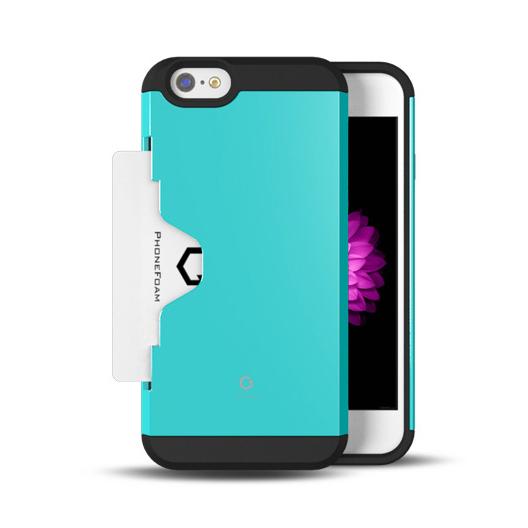 【iPhone6ケース】Golf Fit カード収納機能付きケース エメラルド iPhone 6ケース_0