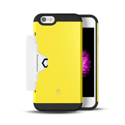 【iPhone6ケース】Golf Fit カード収納機能付きケース イエロー iPhone 6ケース_0