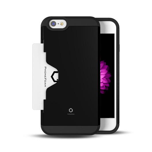 【iPhone6ケース】Golf Fit カード収納機能付きケース ブラック iPhone 6ケース_0