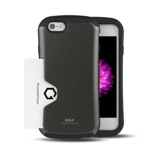 iPhone6 ケース Golf Original カード収納機能付きケース ダークシルバー iPhone 6ケース_0