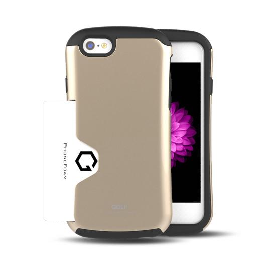 【iPhone6ケース】Golf Original カード収納機能付きケース シャンパンゴールド iPhone 6ケース_0