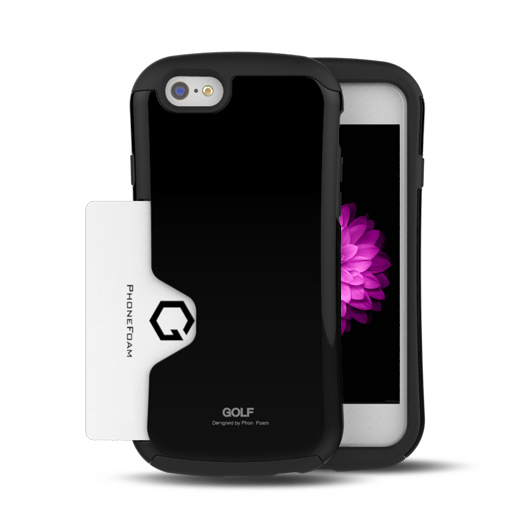 【iPhone6ケース】Golf Original カード収納機能付きケース ブラック iPhone 6ケース_0