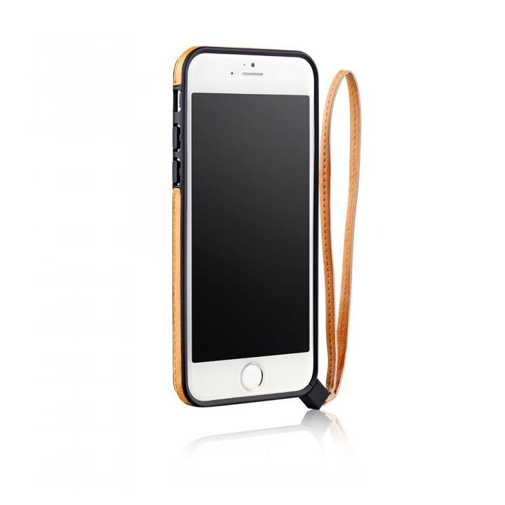 iPhone6 ケース ストラップ一体型軽量バンパー オレンジ iPhone 6バンパー_0