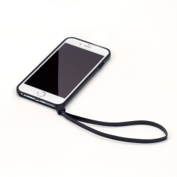 【iPhone6ケース】ストラップ一体型軽量バンパー ブラック iPhone 6バンパー_1