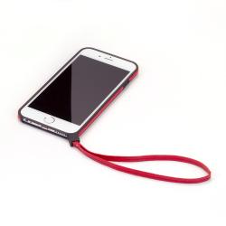 【iPhone6ケース】ストラップ一体型軽量バンパー レッド iPhone 6バンパー_1