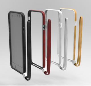 【iPhone6ケース】ストラップ一体型軽量バンパー ブラック iPhone 6バンパー_3