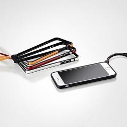 【iPhone6ケース】ストラップ一体型軽量バンパー オレンジ iPhone 6バンパー_5