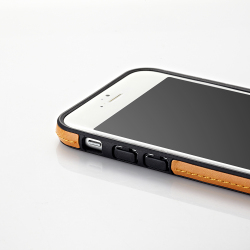 【iPhone6ケース】ストラップ一体型軽量バンパー オレンジ iPhone 6バンパー_6