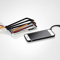 【iPhone6ケース】ストラップ一体型軽量バンパー レッド iPhone 6バンパー_5