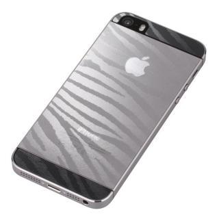 衝撃吸収デザインフィルム全面タイプ  iPhone SE/5s/5 ゼブラ