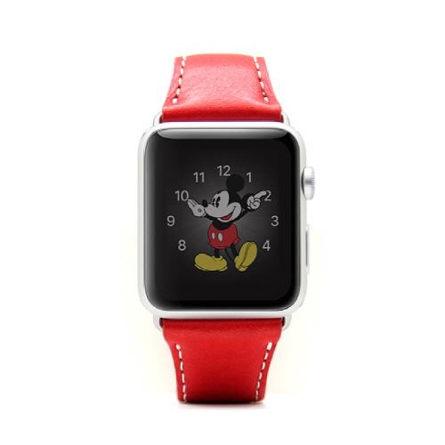 Apple Watch 牛革バンド  D6 IMBL レッド 38mm用_0