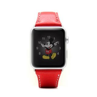 Apple Watch 牛革バンド  D6 IMBL レッド 38mm用