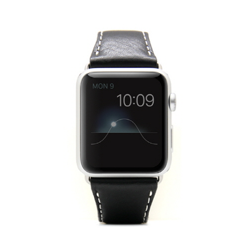 Apple Watch 牛革バンド  D6 IMBL ブラック 38mm用_0