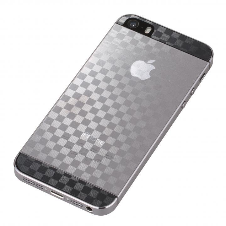 【iPhone SE/5s/5フィルム】衝撃吸収デザインフィルム全面タイプ  iPhone SE/5s/5 ブロック_0