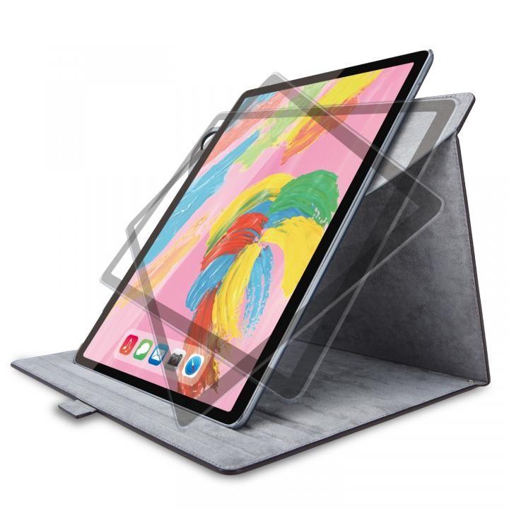エレコム フラップカバー ソフトレザー 360度回転 ブラック iPad Pro 2018 12.9インチ_0