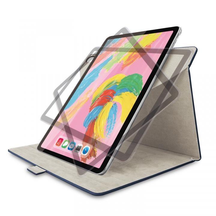 エレコム フラップカバー ソフトレザー 360度回転 ブルー iPad Pro 2018 11インチ_0