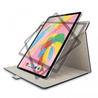 エレコム フラップカバー ソフトレザー 360度回転 ブルー iPad Pro 2018 11インチ