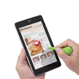 スマートフォン用タッチペン/キッチン用/自立式/グリーン