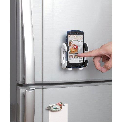 スマートフォン用マグネットホルダー/キッチン用/ホワイト_0