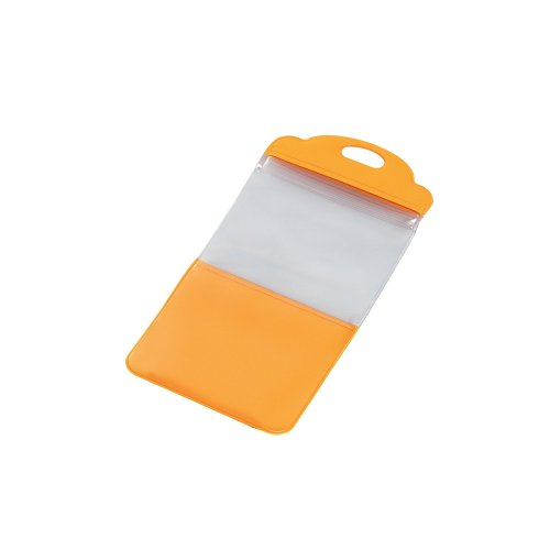 スマートフォン用防滴スタンドケース/キッチン用/4インチ対応/オレンジ_0
