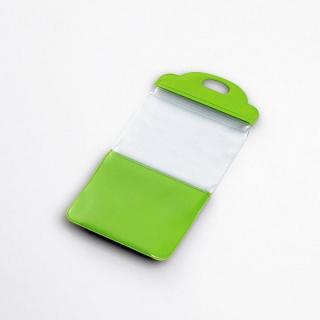 スマートフォン用防滴スタンドケース/キッチン用/4インチ対応/グリーン